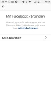InstagramAccountMitFacebookVerbinden
